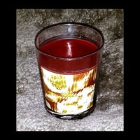 Burgundy candle in glass/ abstract gold design Los Angeles, 91356