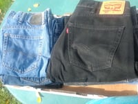 38 size  blue jeans and black jeans $2 each  Triangle, 22172
