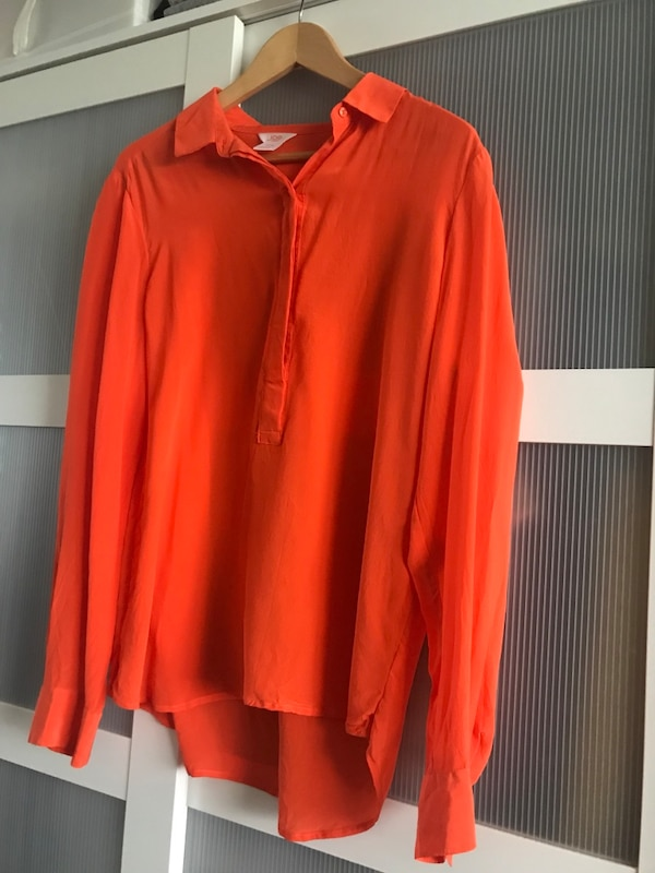 100% silk blouse.size xL