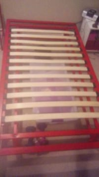 red and white wooden bed frame Irvine, 92620
