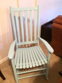 Blue wooden windsor rocking chair Bristow, 20136
