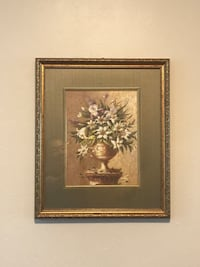 brown wooden framed painting of flowers Buena Park