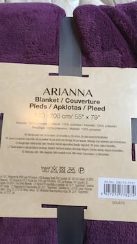purple Arinna blanket Winnipeg, R2H 1Y8