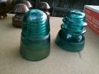 two green glass candle holders Ogden, 84404