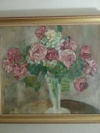 Red & White roses painting. Unofficial appraisal.  Tucson