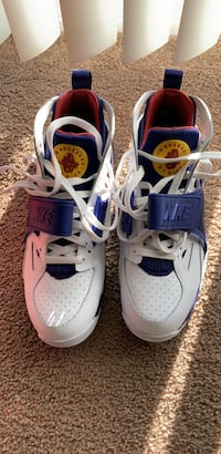 pair of white-and-blue Nike basketball shoes Laurel, 20708