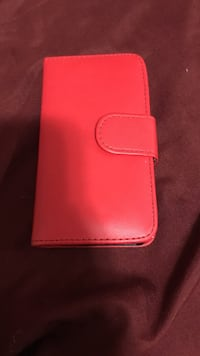 pink leather smartphone flip case