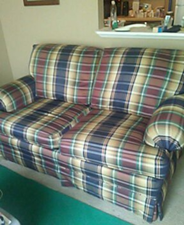 Cool Blue White And Red Checkered 2 Seat Couch Gamerscity Chair Design For Home Gamerscityorg