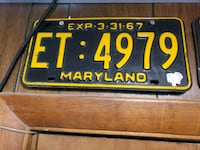 black and yellow license plate Martinsburg, 25401