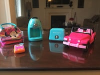 Minnie Mouse Bag, Coffee machine and toaster makes realistic noise, Dora phone talks and plays music, Barbie toy truck all for $20 Milton, L9T 2R1