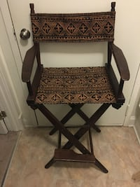Tall Pier 1 director's chair with footrest and upgraded seat/back Glen Burnie