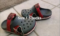 pair of black-and-red Crocs clogs Collinsville, 62234