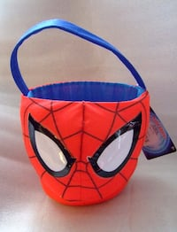 Spiderman Plush Basket - NWT Satellite Beach