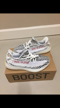 Pair of zebra adidas yeezy boost 350 v2 with box size 9.5 Silver Spring, 20906
