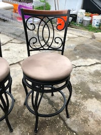 Set of iron barstools , great condition hardly used.negotiable