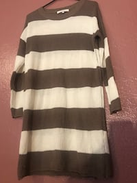 brown and white stripped sweater dress Visalia, 93291