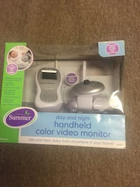 baby's white and gray day and night handheld color video monitor box Stafford, 22556