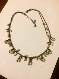 gold and green beaded necklace Hamilton, L8L 6M8