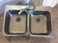 STAINLESS STEEL SINK WITH FAUCET DIM 31.5x20.5 INCHES  Montréal, H9K 1S7