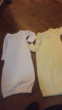Two brand new with tags Carter's nightgown, sleepers. One has two tiny stains on it. Vaughan, L4J 5L7