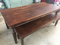 Farm dining table with benches Boonsboro, 21713