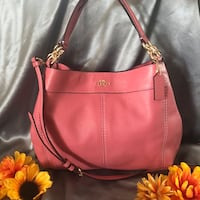 Coach Sm/ Lexy Pebbled Leather Shoulder Bag Peony Las Vegas, 89147