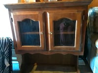 brown wooden framed glass cabinet Carson, 90745