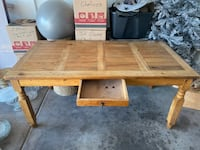Rustic Wood Table with Drawer North Las Vegas