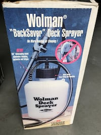 Wolman backsaver deck sprayer Great Falls, 22066