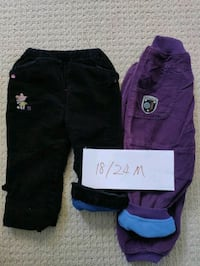 ECU fleece-lined 18/24M pants  Markham, L6C