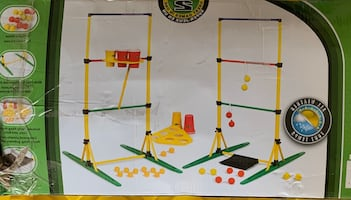 Ladder ball and party pong set