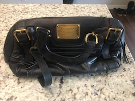 Black dolce & gabanna leather handbag