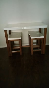 rectangular white and brown wooden console table Teterboro, 07608