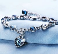 Heart Chain Bracelet (Blue) 21 km