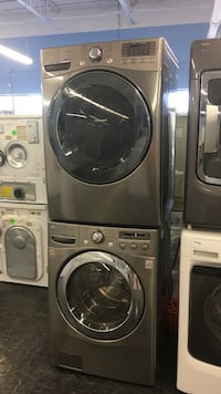 gray front-load washer and dryer set Toronto, M3J
