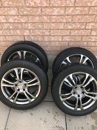 chrome 5-spoke auto wheel with tire set Mississauga, L5V 2G3
