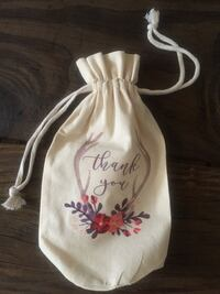 "Canvas Wine Bag/Gift Bag ""Thank You"" - Brand New! Tuxedo Park, 10987"