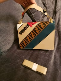 double sided fendi roma purse brand new with tags
