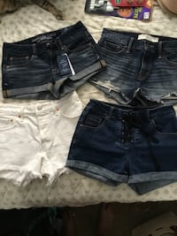 American eagle brand new, Levi's 501 Abercrombie & Fitch Black label tie up high waisted shorts 2252 mi