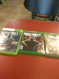 two Xbox One game cases Clarksville, 37042