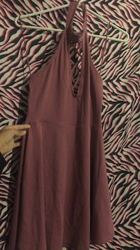 women's brown sleeveless dress Oklahoma City, 73129