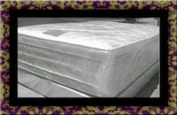 "Full 16"" double pillowtop  mattress with box  Mount Rainier, 20712"