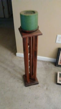 brown and green wooden candle holder Charlotte, 28269