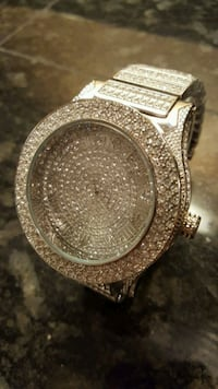 NEW 55mm Iced Out Dress Up Watch CZ Diamond   Surrey, V3S