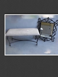 Bench WITH Metal Mirror Surrey