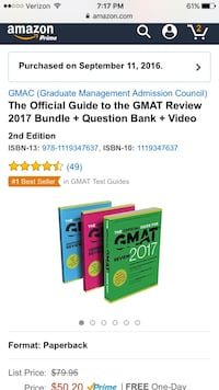 2017 GMAT Study Guide Bundle Washington, 20001