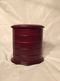 Oval Cherry Wooden Swivel Jewellery Box (BRAND NEW) Edmonton, T6C 4C8