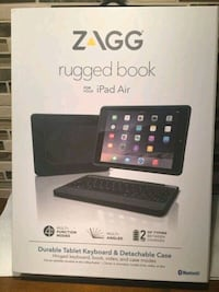 ZAGG Rugged Book Durable Keyboard Detachable Case for iPad Air