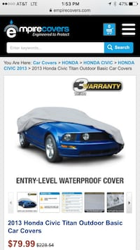 Car cover for Honda Civic. NEW Plainfield, 60544