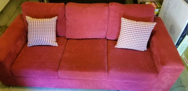 Red Fabric Couch for free e14dc000-65c4-4d34-92f6-75eaace659fd